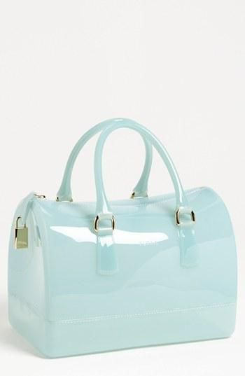 This is so fun! Furla Transparent Rubber Satchel.