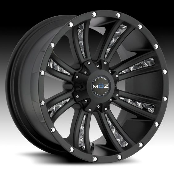 Rims | MOZ Luxury Wheels: Matte Black Off-Road Wheels for Trucks