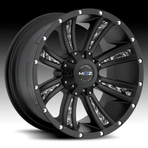 Rims | MOZ Luxury Wheels: Matte Black Off-Road Wheels for Trucks