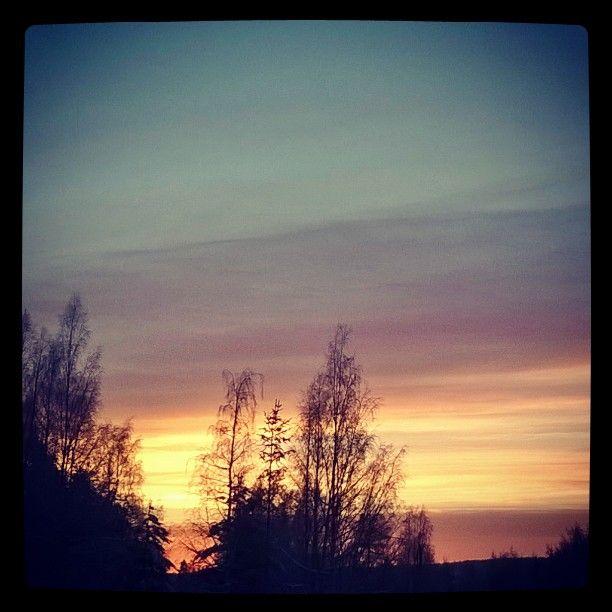 #auringonlasku  #sunset 24.12.2015