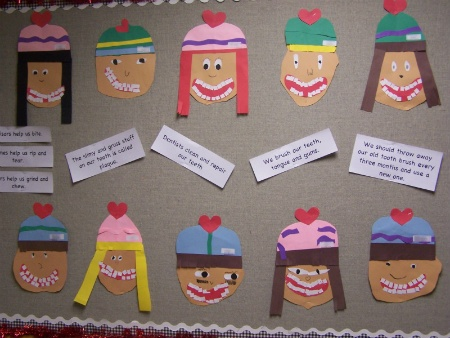 Dental Health Month smiley faces