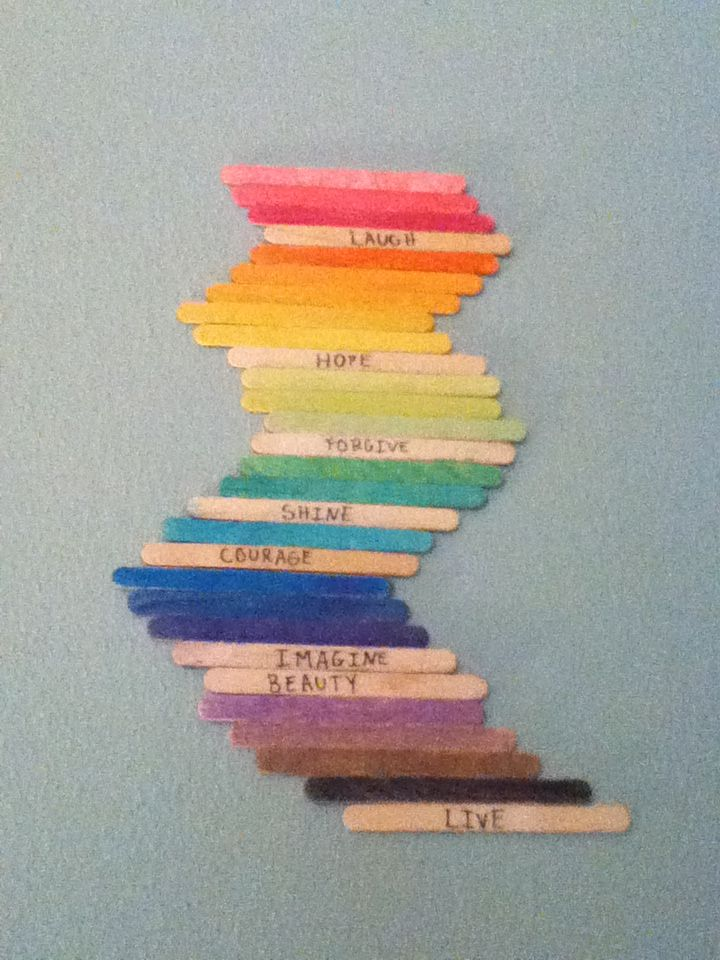 38 best diy popsicle stick projects images on pinterest for Popsicle art projects