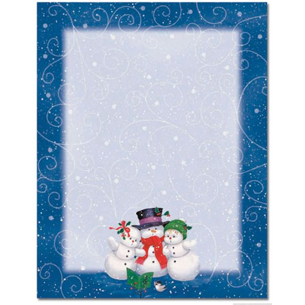 15 best paper images on pinterest paper mill papercraft and our cute christmas caroling snowman border holiday printer paper is perfect for use as sales flyers spiritdancerdesigns Images
