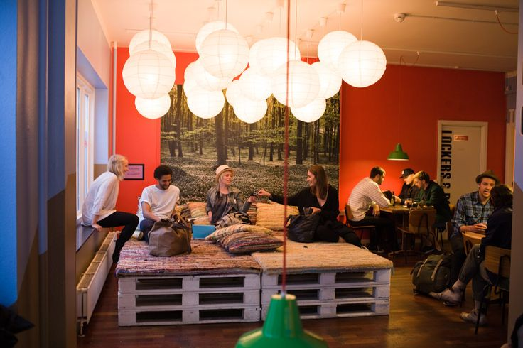 We love the chill out area in Copenhagendown hostel #cph #cphdowntown #hostel #copenhagen #design
