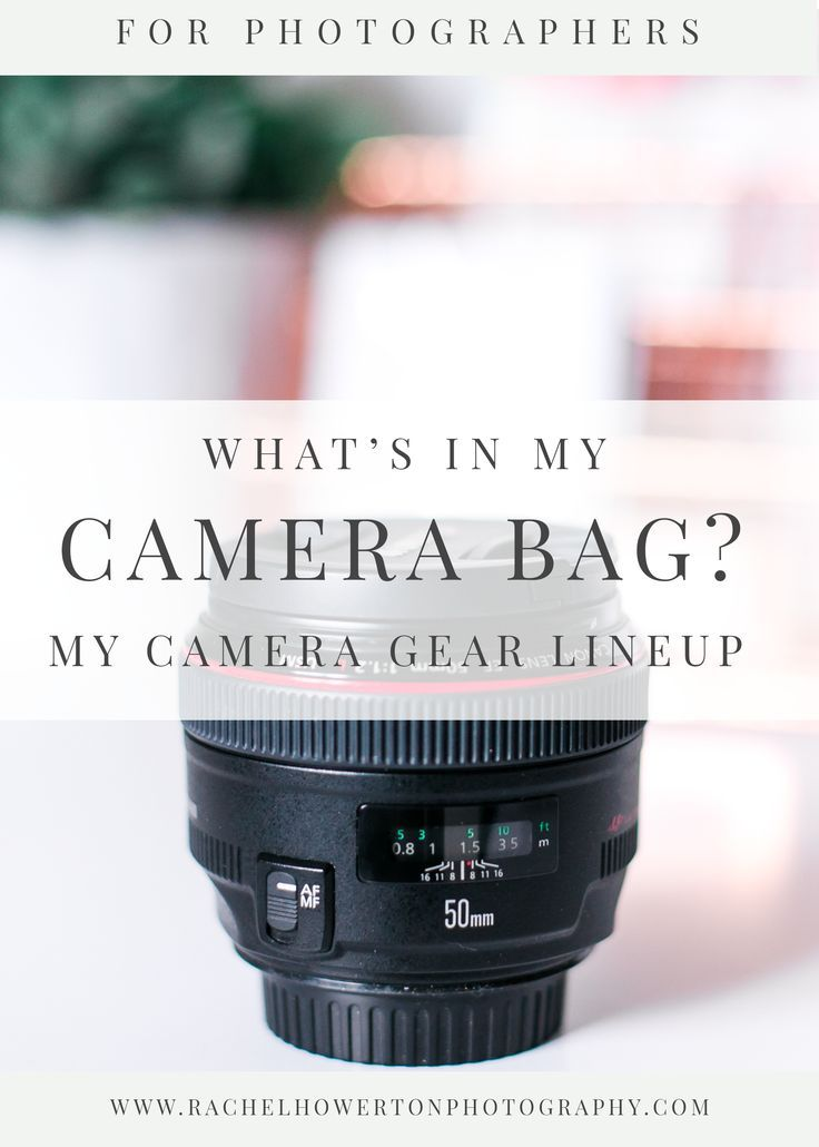 What's In My Camera Bag? A wedding professionals preferred camera equipment! Post by Rachel Howerton Photography. Canon Equipment. Canon Lenses. Must have Photography Equiment. Must have cameras. Must have lenses.