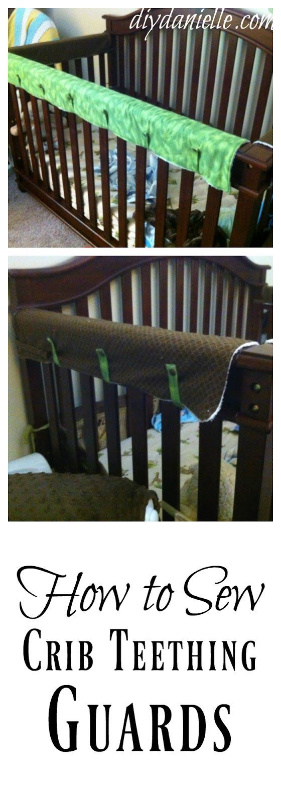 How to sew a crib teething guard, otherwise known as a rail guard.
