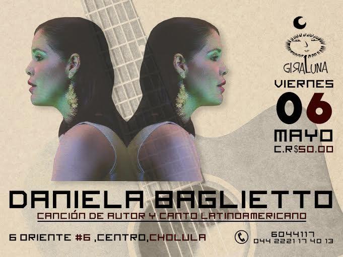 """Viernes 06: Daniela Baglietto nos presenta """"Canción de autor y canto latinoamericano"""""""