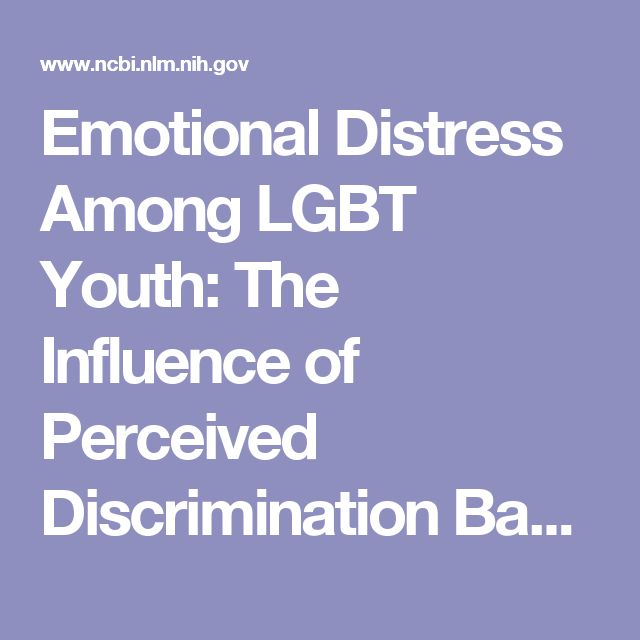 the psychological effects of discrimination among the lgbt community Several studies have examined the effect of discrimination specifically on   discrimination and negative mental health outcomes (meyer, 2003)   victimization of lesbian, gay, and bisexual youth in community settings.