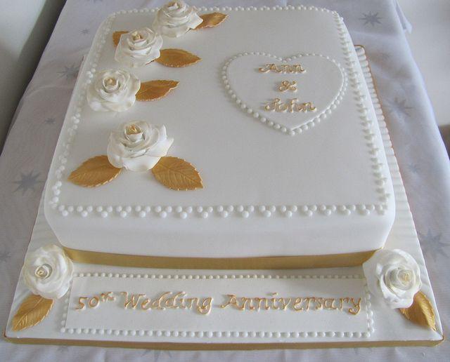 anniversary cakes | 50th Wedding Anniversary cake | Flickr - Photo Sharing!