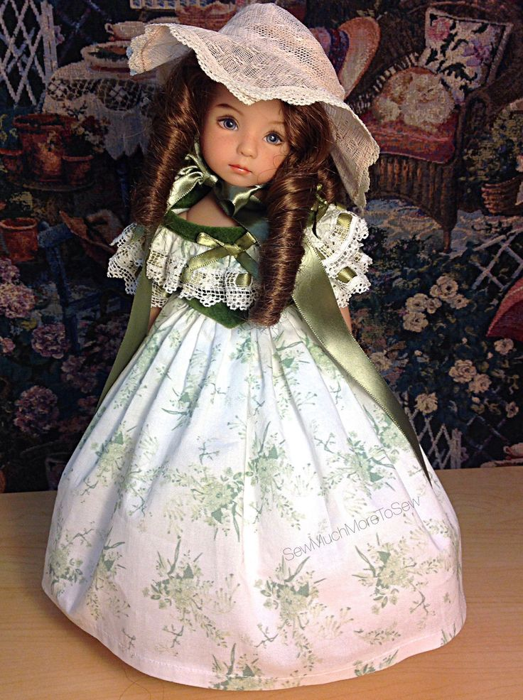Effner Little  Darling Doll dressed as Scarlett ,GONE WITH THE WIND, BBQ dress