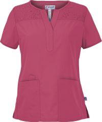 Peaches Scrubs Yvette Top Style #  P4443  #summerfashion #nurses #uniformadvantage #peaches #top