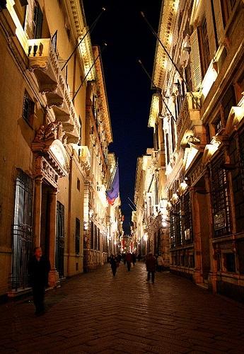 Via Garibaldi - Genoa, Italy