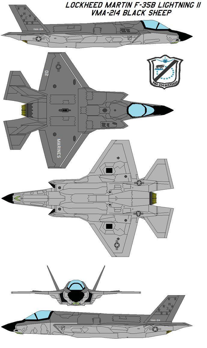 F-35B Lightning II  VMA-214 by bagera3005.deviantart.com on @DeviantArt