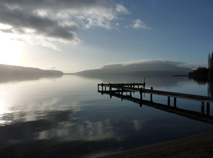 A quiet jetty at Lake Tarawera. Photo taken by David Walmsley.