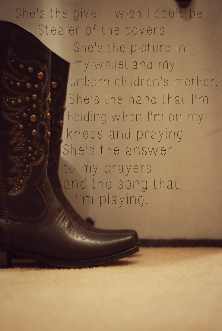 This song just gets me...hard to wonder if they'll ever come back to you. She's Everything - Brad Paisley