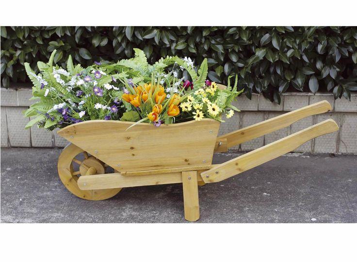 Amazing Wooden Wheelbarrow Planter. Wooden WheelbarrowWooden GardenGarden  AccessoriesGarden ...