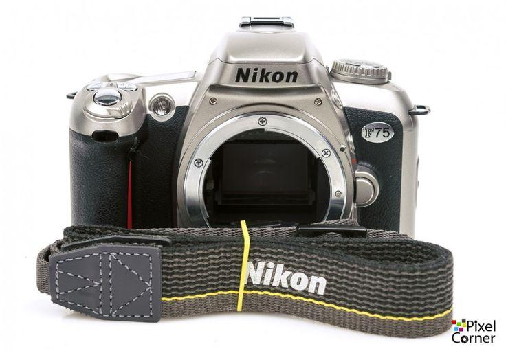 Nikon F75 camera body 35mm film SLR Silver - Very Nice 2341803