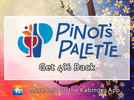 Pinot's Palette is now on the app with 4% back and coupons. Get your painting on! @pinotspaletteoldsmar