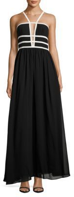 Evening gown fashions. Disclosure: I'm an affiliate marketer. When you click on the link to the retailer, I earn a commission. Aidan Aidan Mattox Halterneck Cutout Gown