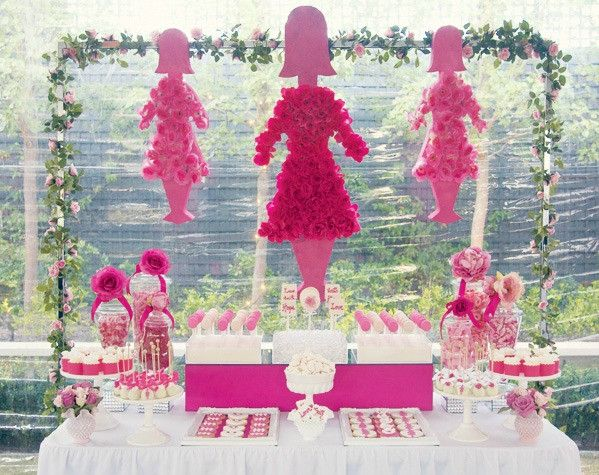 breast cancer awareness dessert table bickiboo party supplies - Breast Cancer Decorations