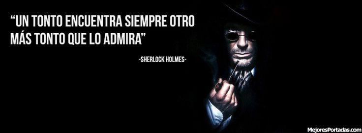 Frase de Sherlock Holmes - ÷ Las Mejores Portadas para tu perfil de Facebook ÷
