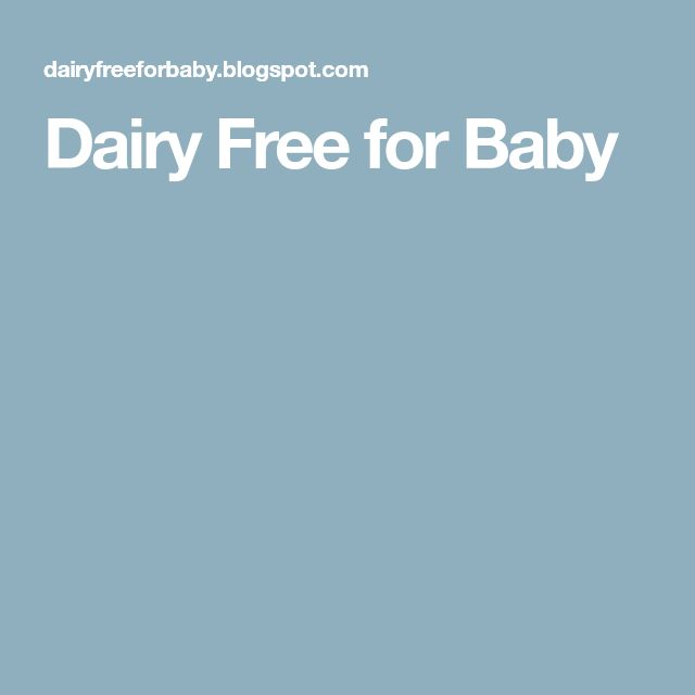 Dairy Free for Baby