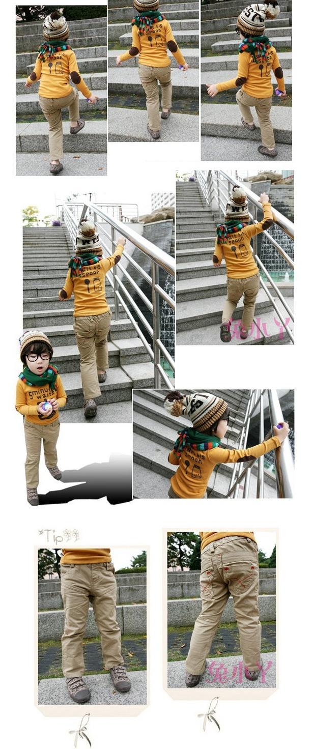 Freeshipping мужской одежды ребенка ребенку осени 2012 вскользь кальсоны долго моде брюки узкие брюки цвета хаки в штаны от одежды и аксессуары на Aliexpress.com