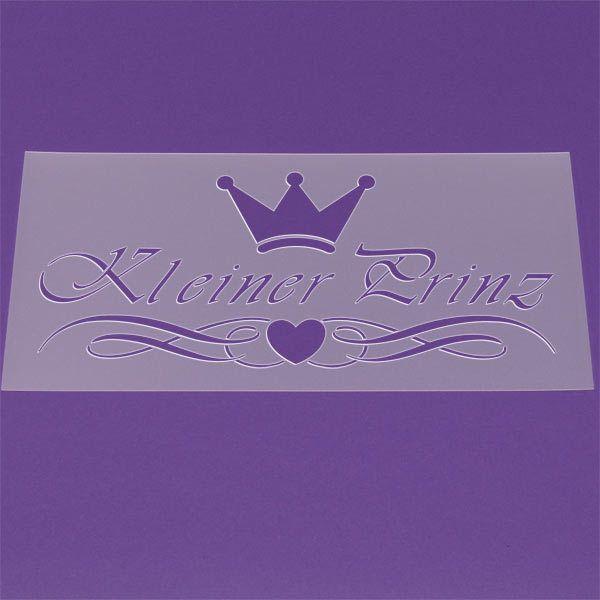 Schablone Schriftzug Kleiner Prinz Krone - XM05 von Lunatik-Style via dawanda.com