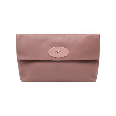 Mulberry Gift Kaleidoscope | Dark Blush - Oversized Clemmie Clutch in Dark Blush Glossy Goat Leather