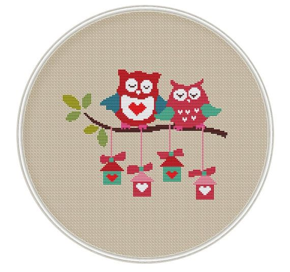 Owls Cross stitch pattern Counted cross stitch by MagicCrossStitch