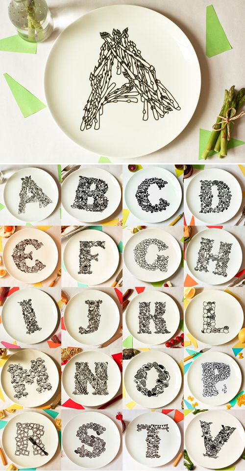 Alphabet plates!