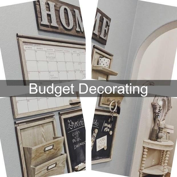 Decorating A House On A Budget