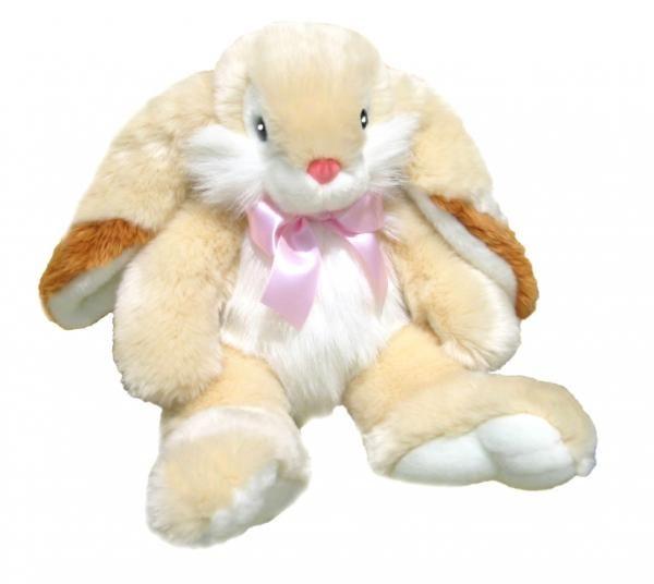 Peaches the rabbit plush toy