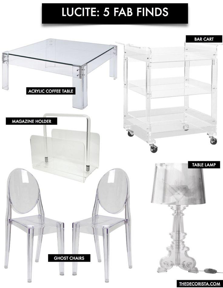 Decorating with lucite furniture — The Decorista