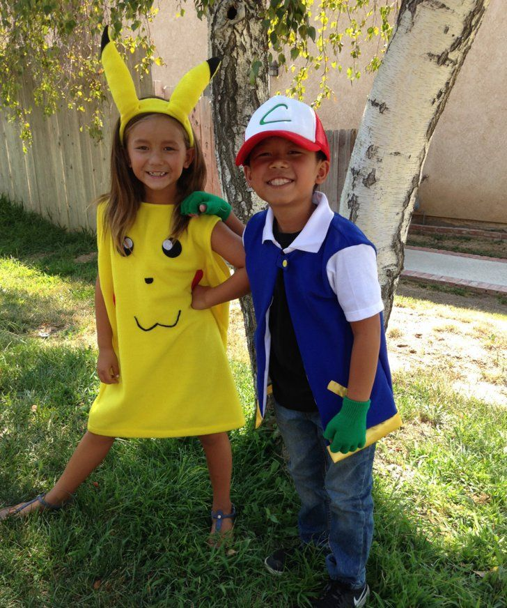 57 Perfect Kids' Halloween Costume Ideas For BFFs Pokémon Ash and Pikachu Pokémon Ash and Pikachu ($60)