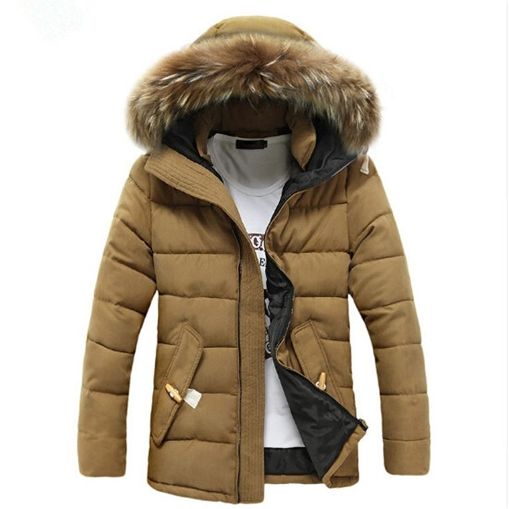 33.07$  Watch now - http://alid4u.shopchina.info/go.php?t=32799259849 - 2017 Men Winter Jacket Hooded Cotton-Down Warm Jackets And Coats Male Casual Thick Outwear Men  #aliexpressideas