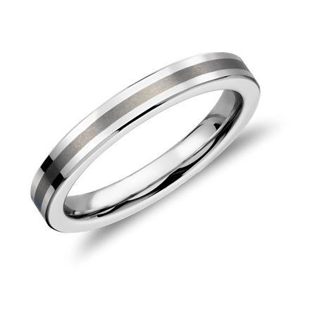 Thin Men's Wedding Band, Carbide