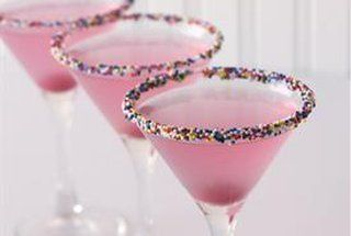Pink lemonade with sprinkles for high tea instead of tea...grown up party with cake flavored vodka