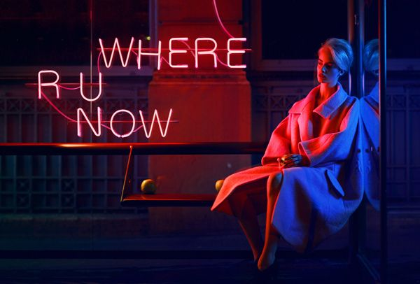 'Where R U Now' Neon - Photography by Quentin Shih for Stiletto Magazine Editorial