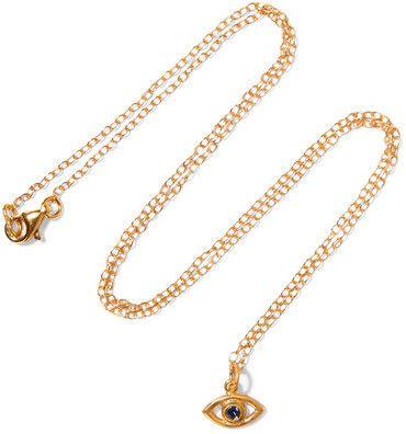 IAM by Ileana Makri - Eye Gold-plated Cubic Zirconia Necklace - one size