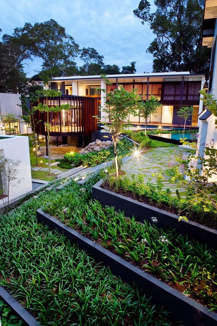19 best screen house contemporary residence with wooden shade