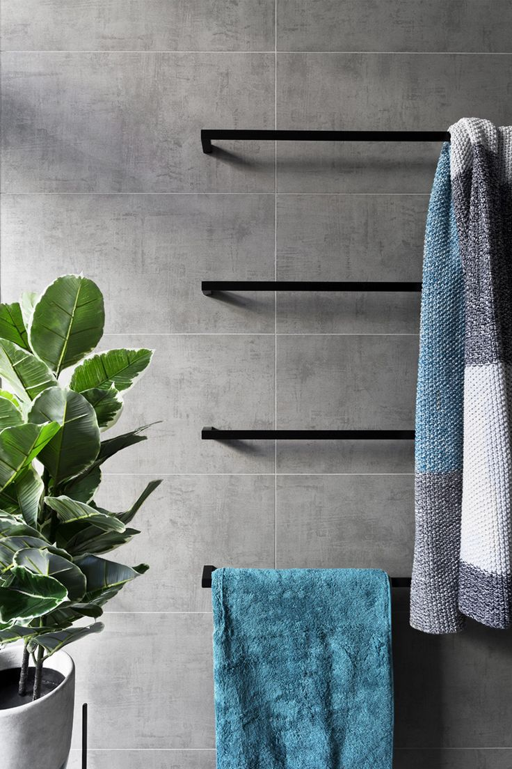 top  best modern towel bars ideas on pinterest  industrial  - in this modern grey and white bathroom matte black accents like towel barsadd a