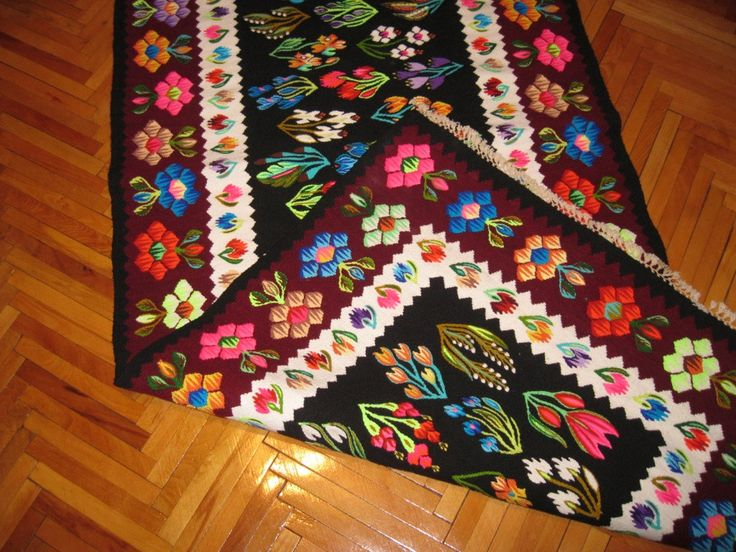 Vintage Romanian hand woven wool kilim / rug by RealRomania, $499.00