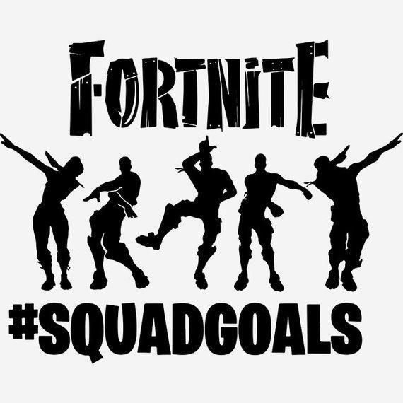 squad goals fortnite decal fortnite cricut silhouette squad goals fortnite decal fortnite