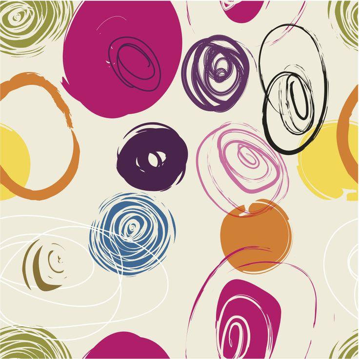 rosey circles #wallpaper inspiration #circles #prints #graphics #textiles #interiordesign
