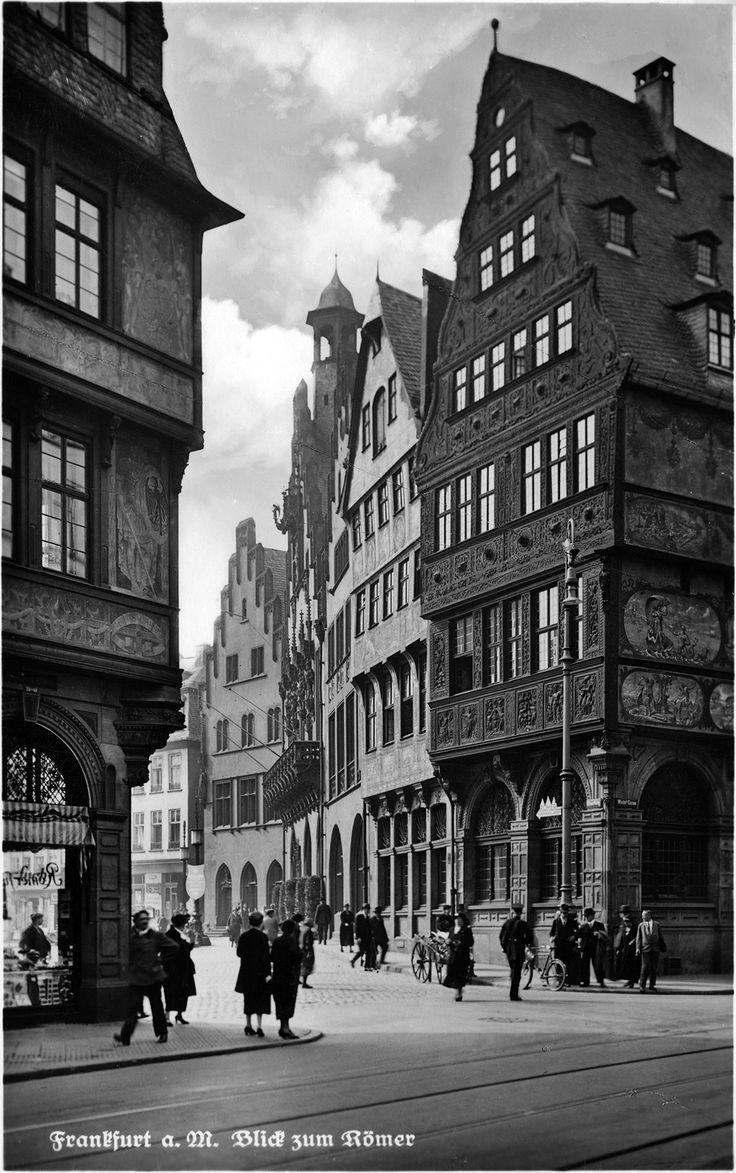Pre-war Frankfurt: Altstadtblick zum Roemer, 1920