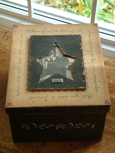 Altered Paper mache box