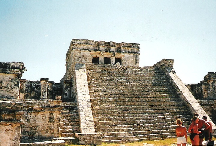 Talum, Mexico. The Castle.  It is the tallest building in Tulum