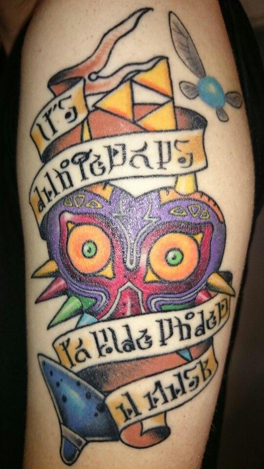 Legend of Zelda Majoras Mask Tattoo