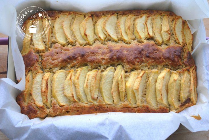 Het recept voor een lekkere zachte glutenvrije boekweitcake met appel